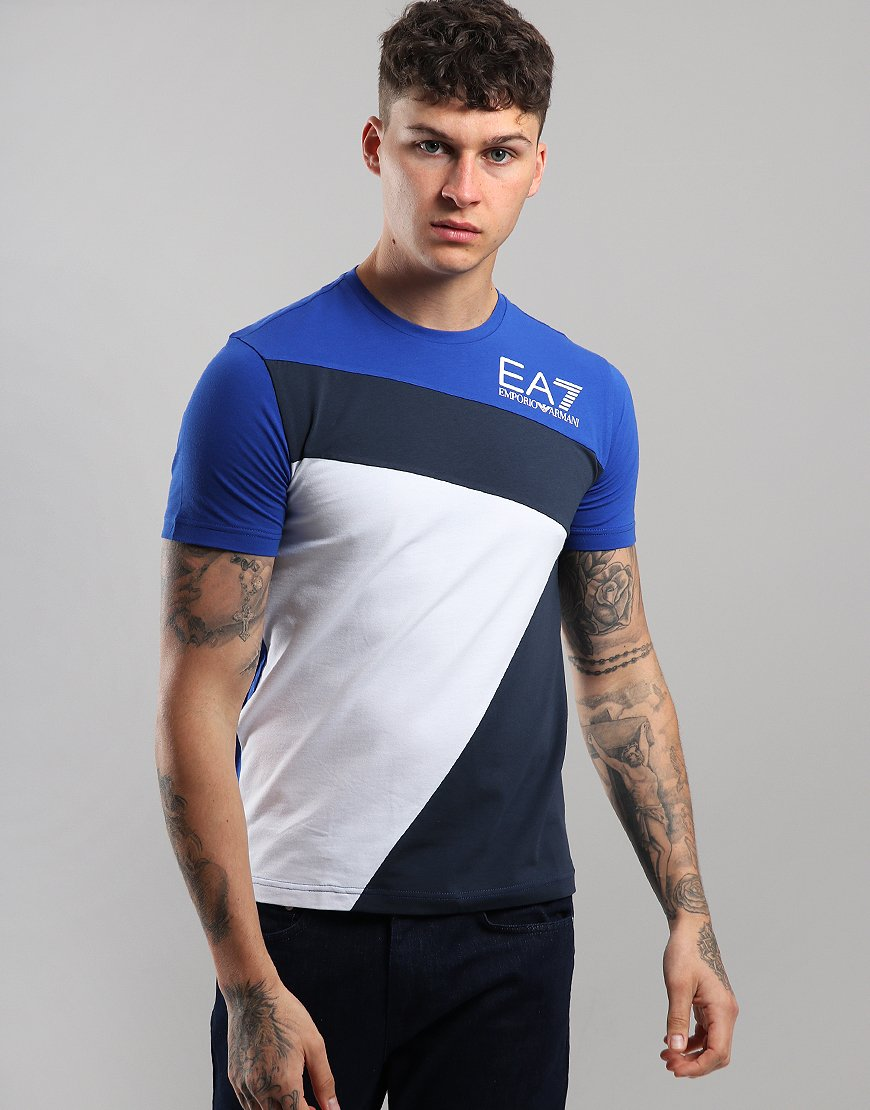 EA7 Geometric  T-Shirt Surf