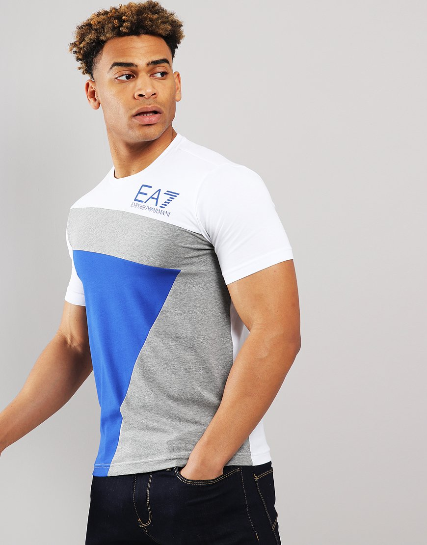 EA7 Geometric  T-shirt White