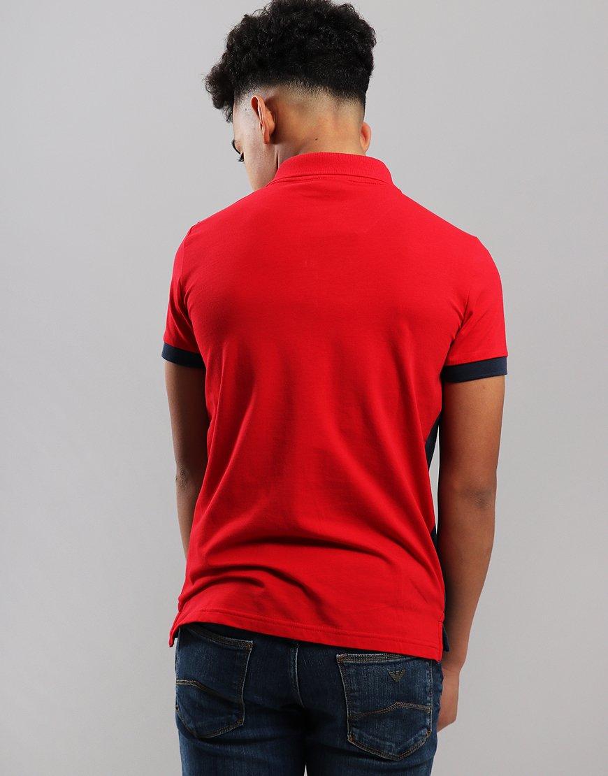 e5c3c0bf EA7 Emporio Armani Junior Colour Block Polo Shirt Tango Red ...