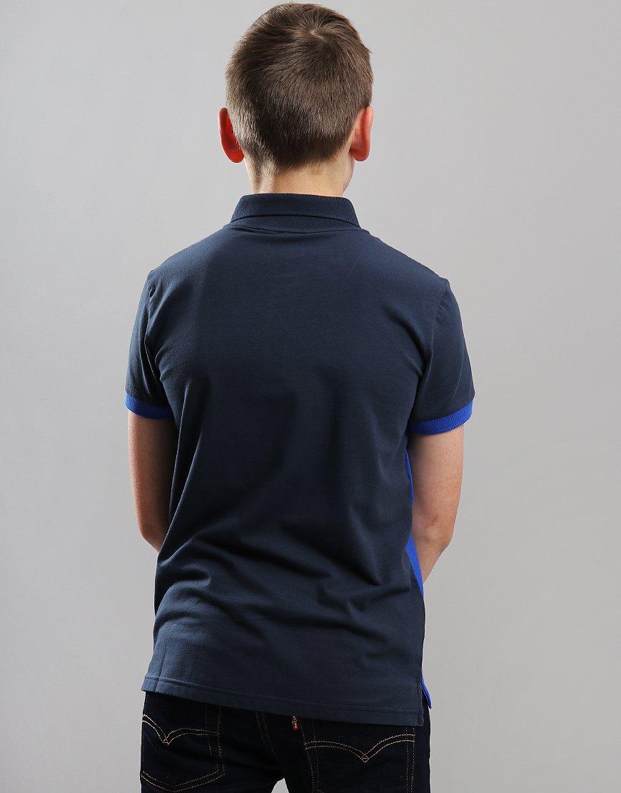 7b2d0e220b EA7 Emporio Armani Junior Colour Block Polo Shirt Navy