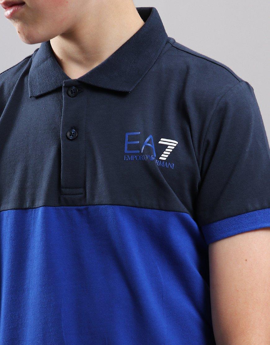 49a66bdd EA7 Emporio Armani Junior Colour Block Polo Shirt Navy - Terraces ...