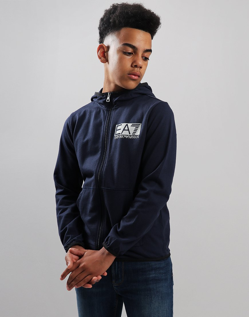 EA7 Kids Zip Through Sweat Navy