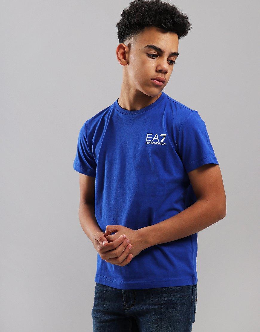 EA7 Emporio Armani Junior Chest Logo T-Shirt Surf