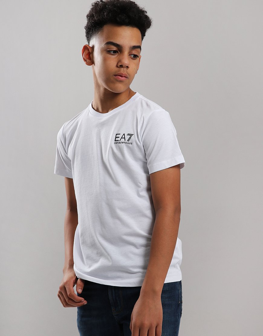 EA7 Emporio Armani Junior Chest Logo T-Shirt White