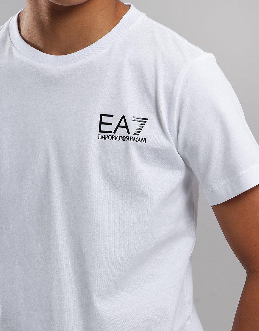 249b07b6 EA7 Emporio Armani Junior Chest Logo T-Shirt White - Terraces Menswear