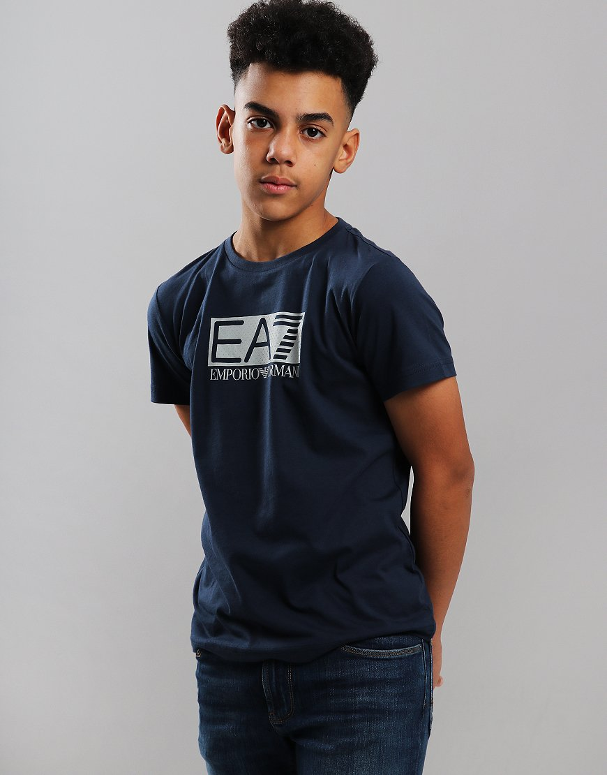 EA7 Emporio Armani Junior Chest Patch T-Shirt Navy