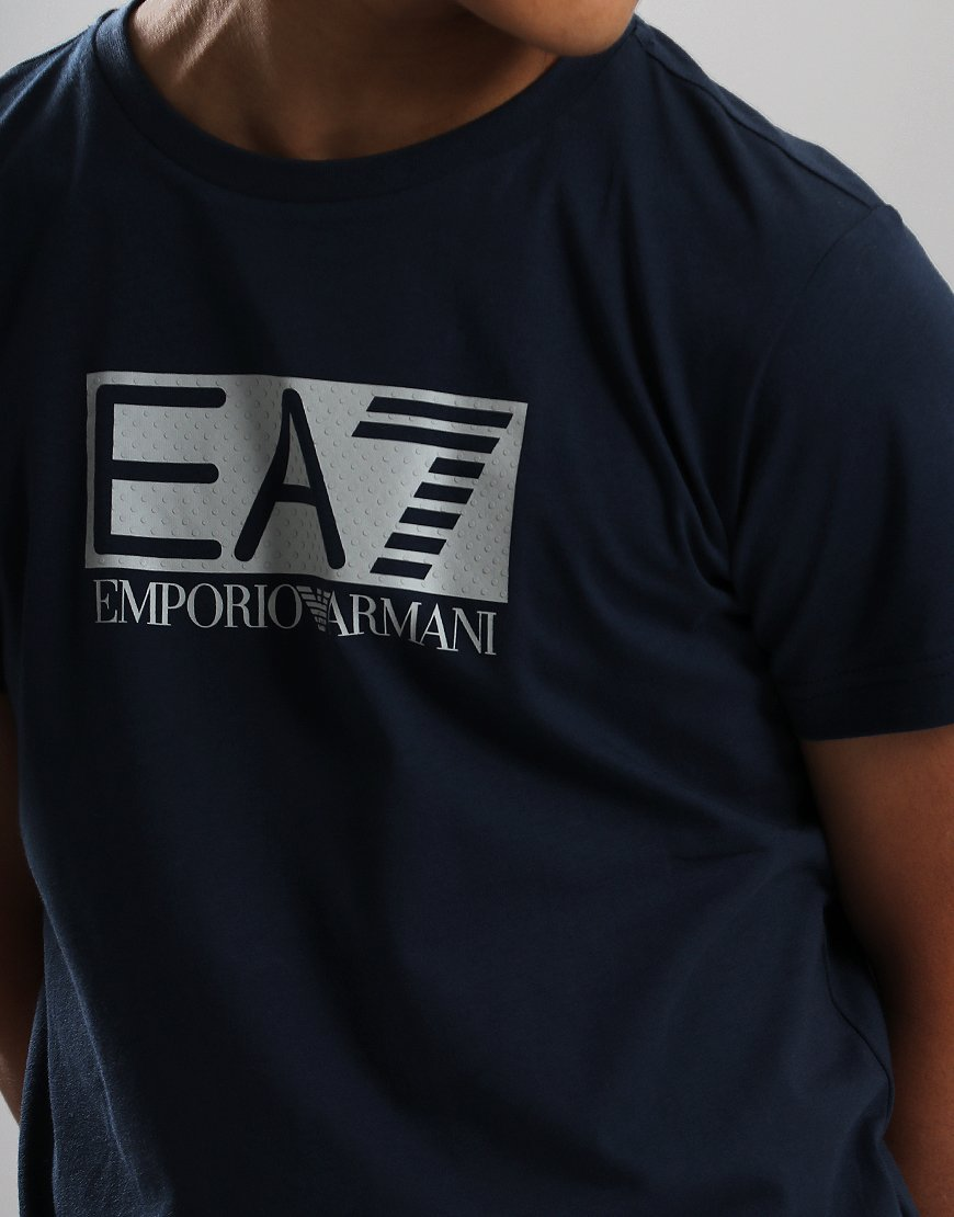 adac0922 EA7 Emporio Armani Junior Chest Patch T-Shirt Navy - Terraces Menswear