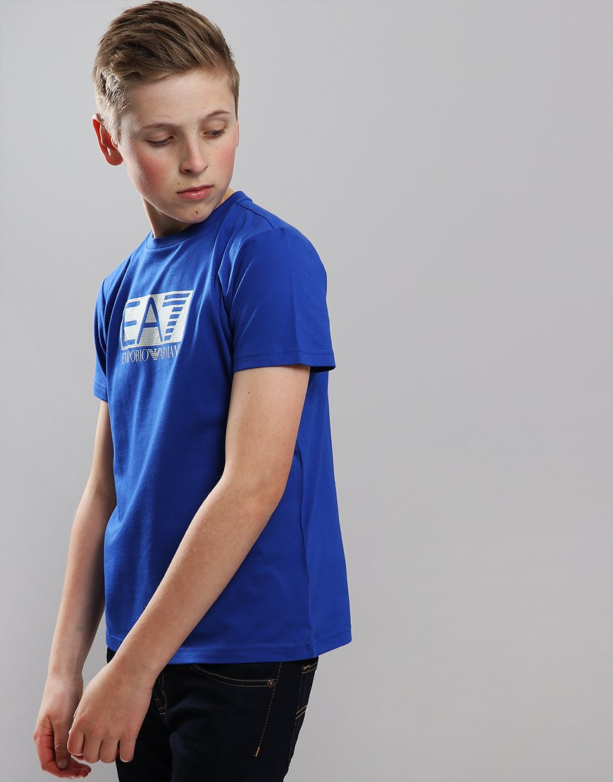 2688b4c9 EA7 Emporio Armani Junior Chest Patch T-Shirt Surf