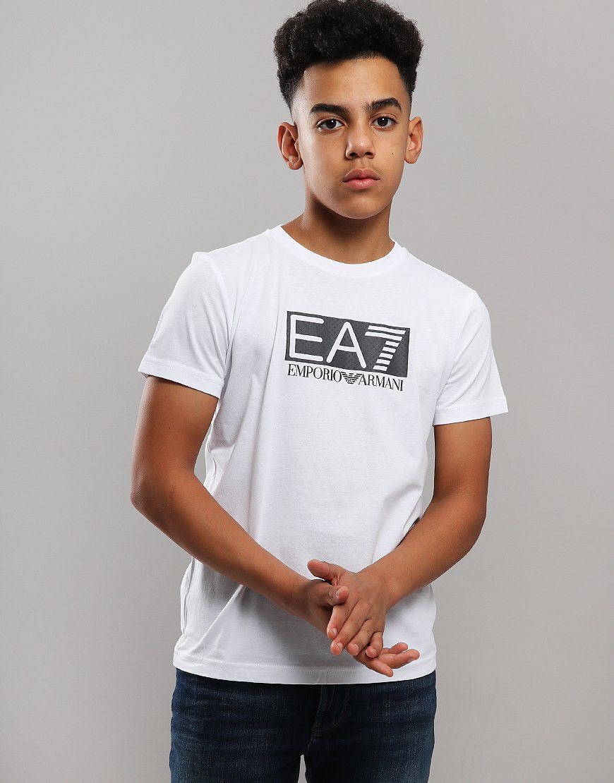 EA7 Emporio Armani Junior Chest Patch T-Shirt White