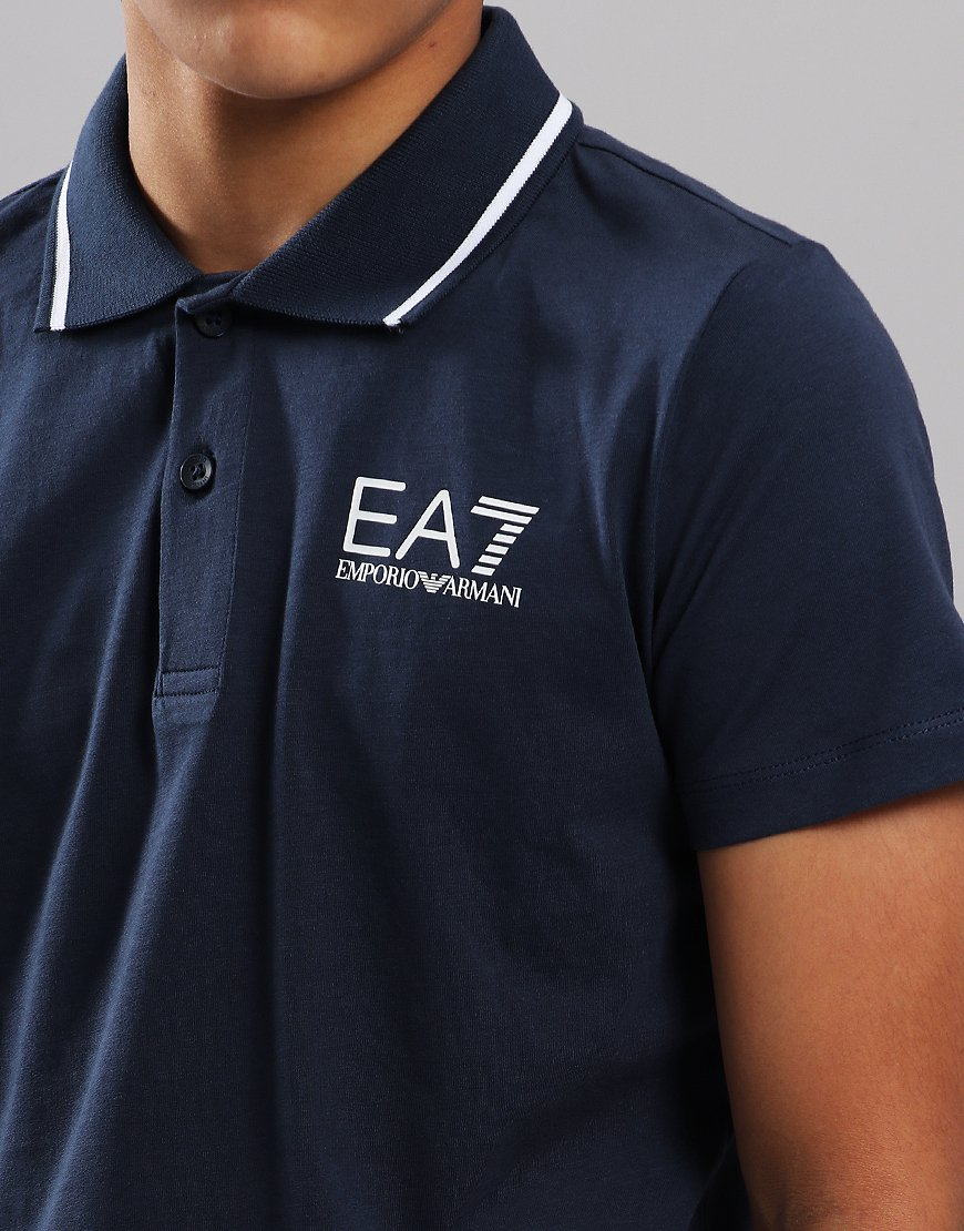 6fe95a42 EA7 Emporio Armani Junior Tipped Polo Shirt Navy