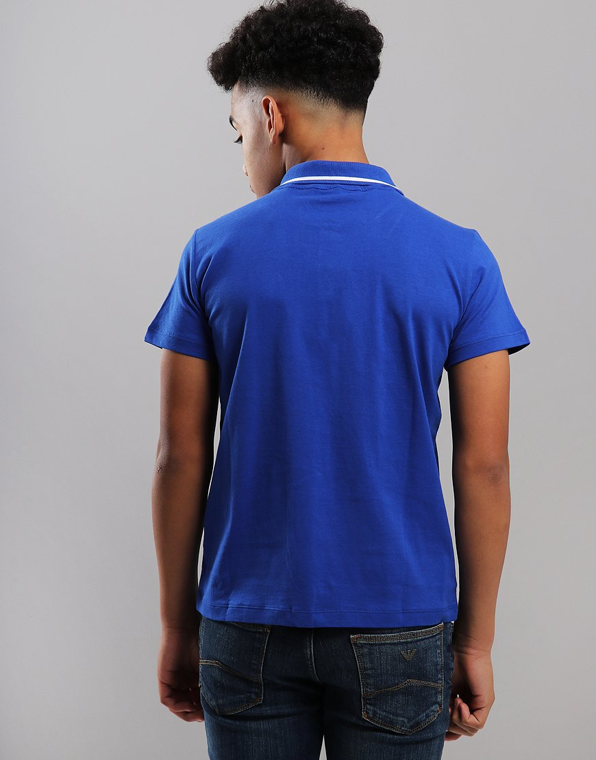 8ba4ea23 EA7 Emporio Armani Junior Tipped Polo Shirt Surf - Terraces Menswear