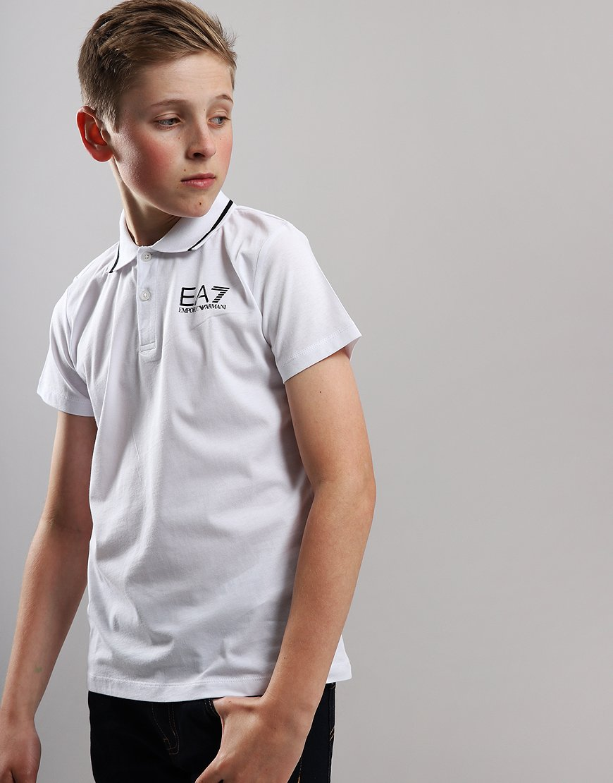 EA7 Emporio Armani Junior Tipped Polo Shirt White