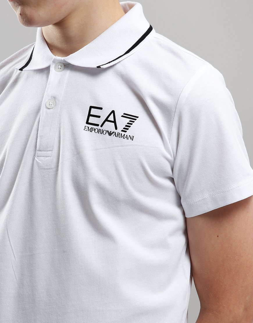 2417ac84 EA7 Emporio Armani Junior Tipped Polo Shirt White