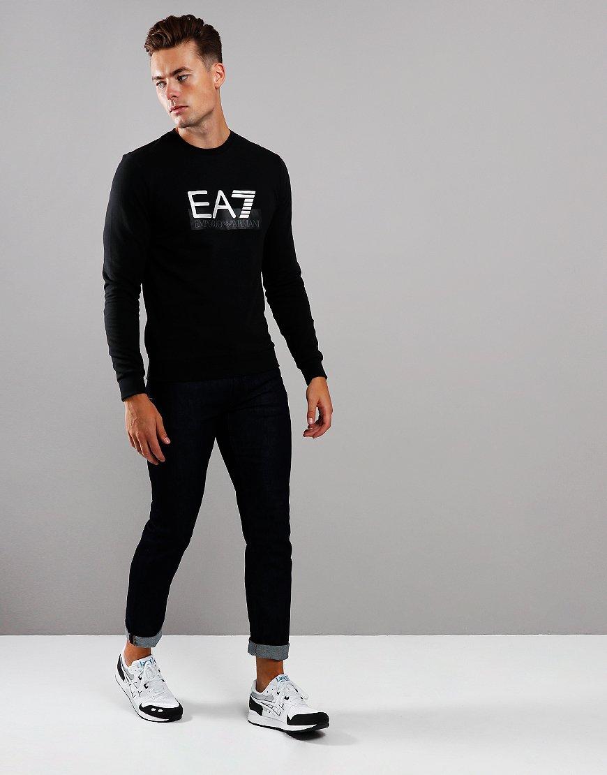 EA7 Large Logo Crew Sweat Black