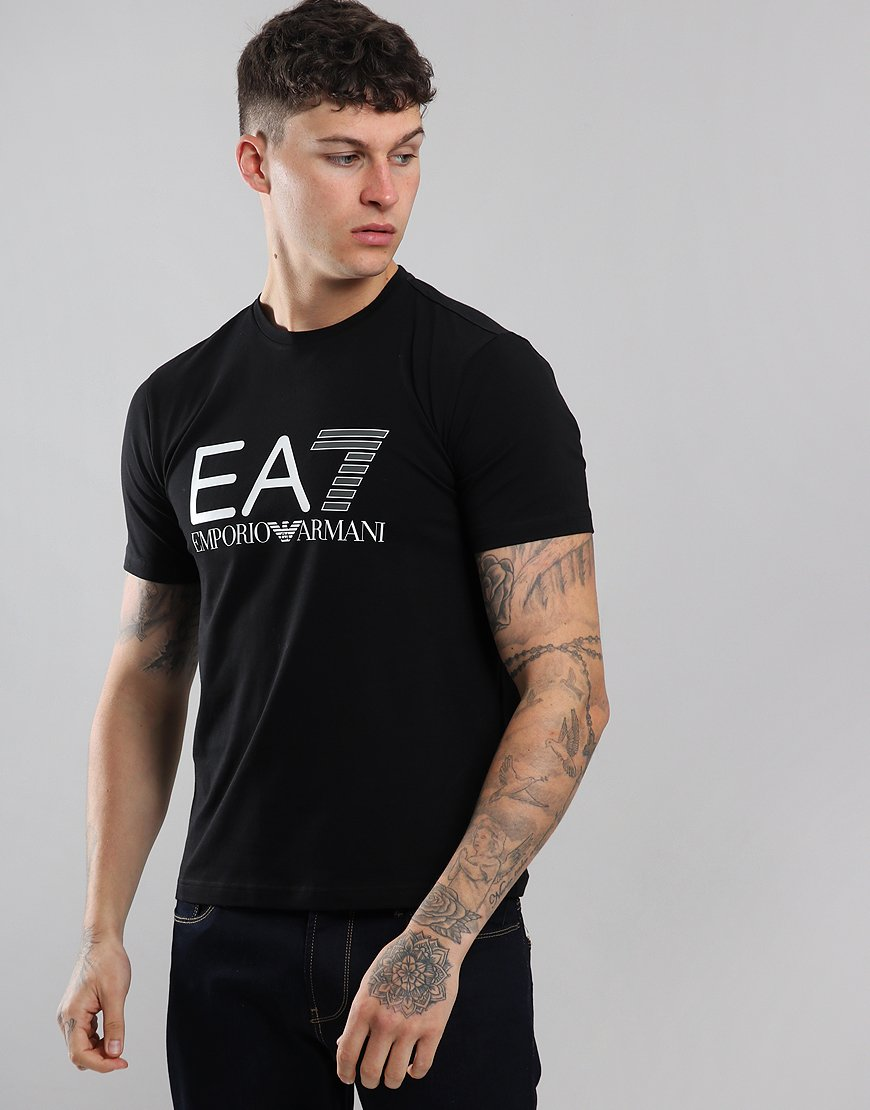EA7 Large Logo  T-Shirt Black