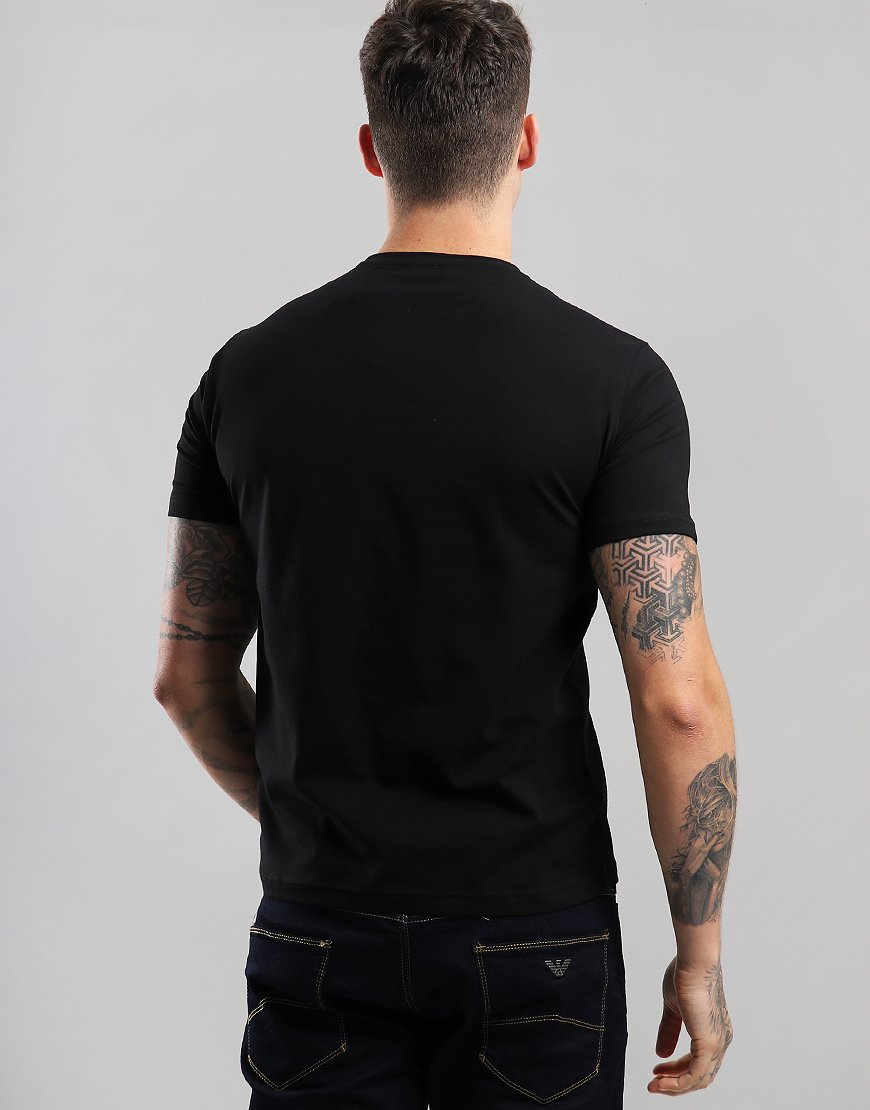 f3ca3194915f EA7 Large Logo T-Shirt Black - Terraces Menswear