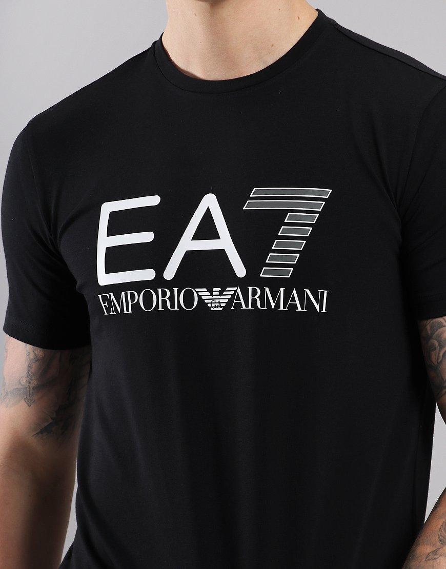 cbb76c51 EA7 Large Logo T-Shirt Black - Terraces Menswear