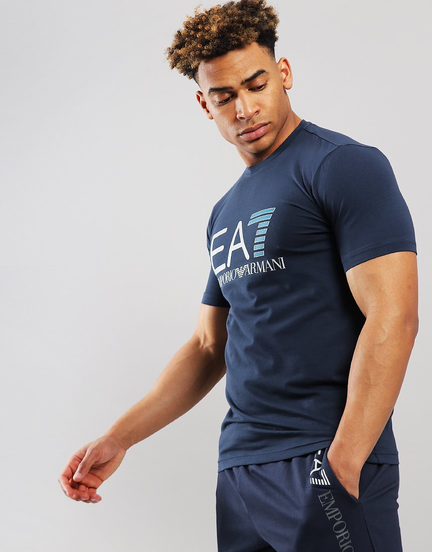 EA7 Large Logo  T-shirt Navy