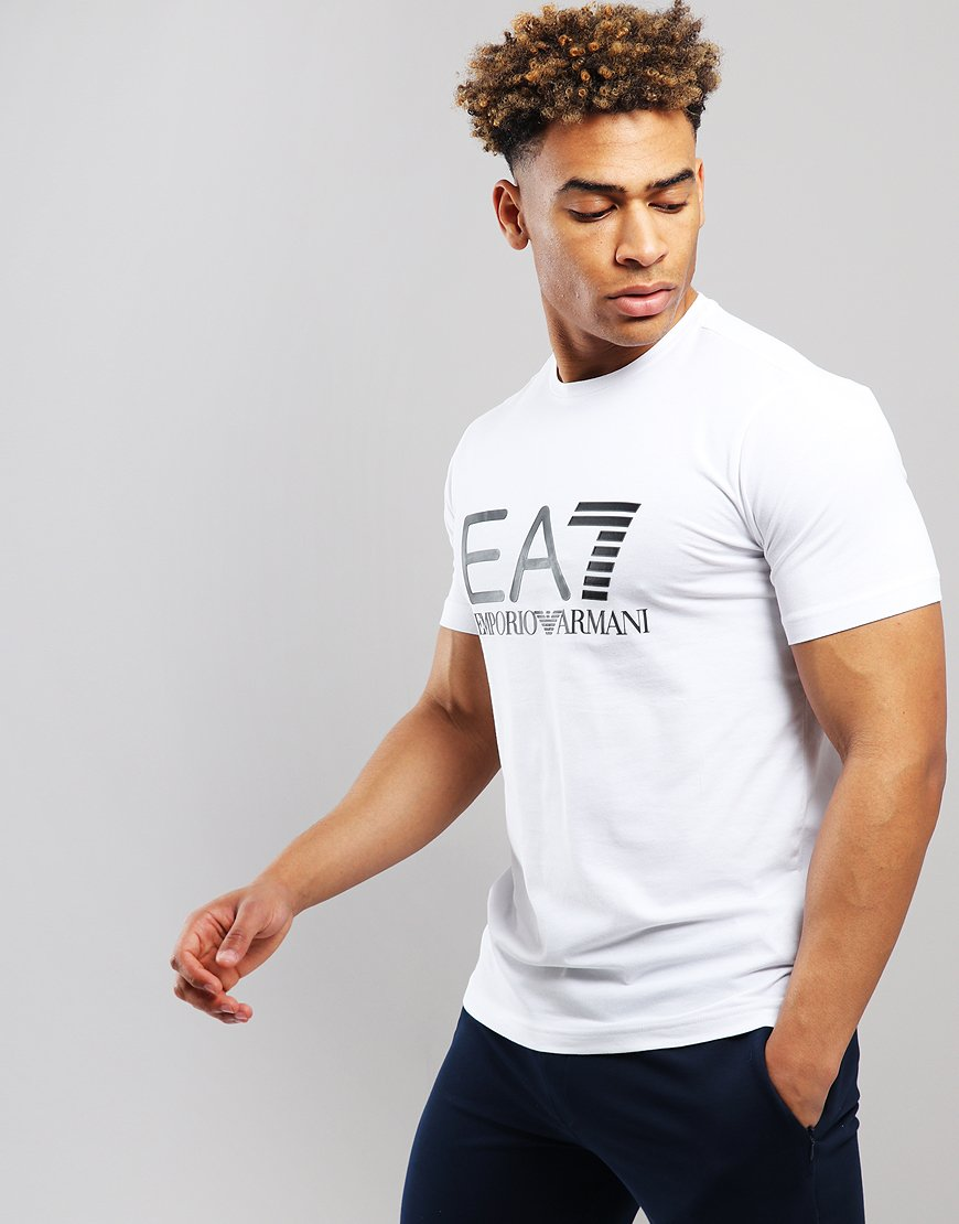 edd88f96e5a4 EA7 Large Logo T-shirt White - Terraces Menswear