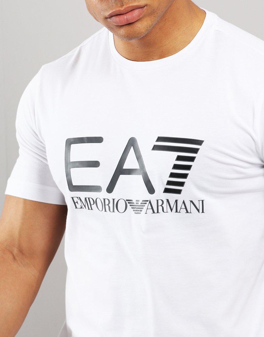 c5f46e76 EA7 Large Logo T-shirt White - Terraces Menswear