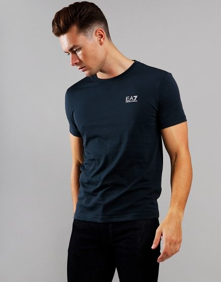 EA7 Small Logo T-Shirt Night Blue