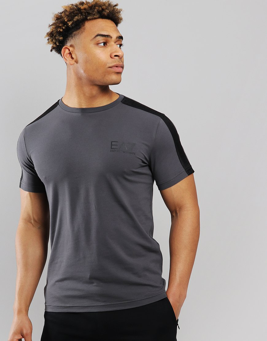 EA7 Taped Shoulder T-Shirt Asphalt