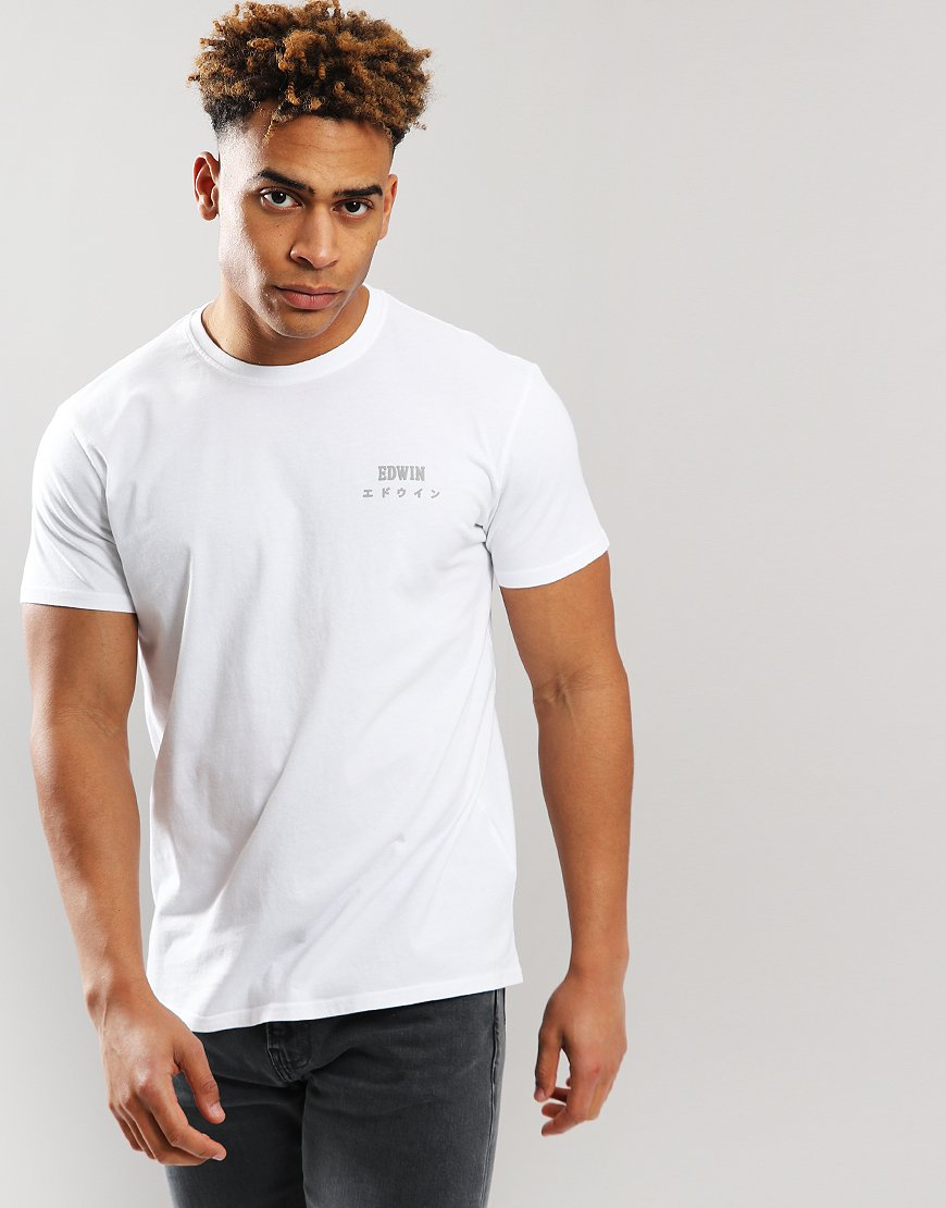 EDWIN Chest Logo T-shirt White