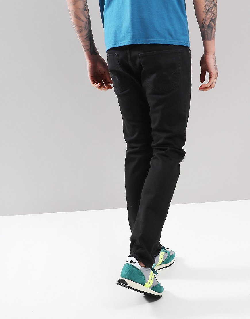 EDWIN ED-55 Rinsed Tapered Jeans CS Power Black