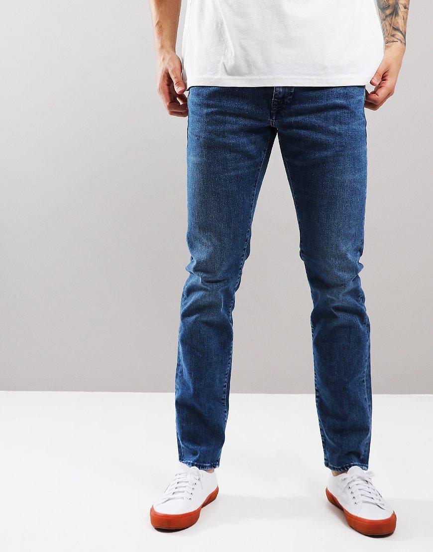 sale retailer a246a 9ea5a EDWIN ED-55 Regular Tapered Jeans Eastside Blue