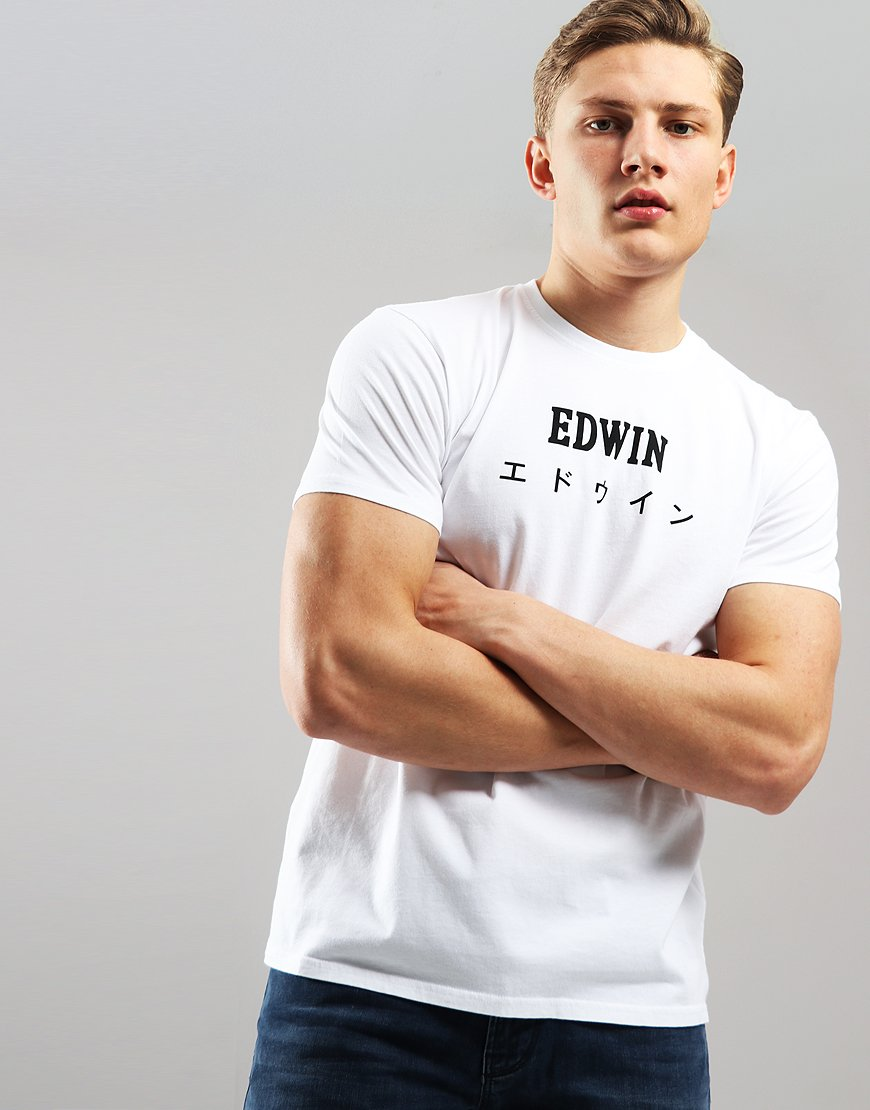 EDWIN Japan Logo T-shirt White
