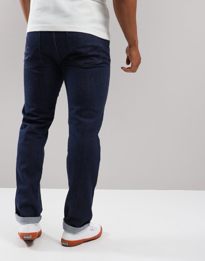 EDWIN ED-80 Slim Tapered CS Red List Jeans Blue Rinsed