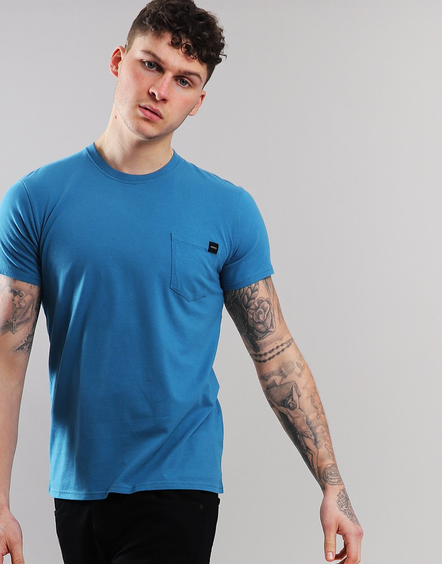 EDWIN Tab Pocket T-shirt Blue