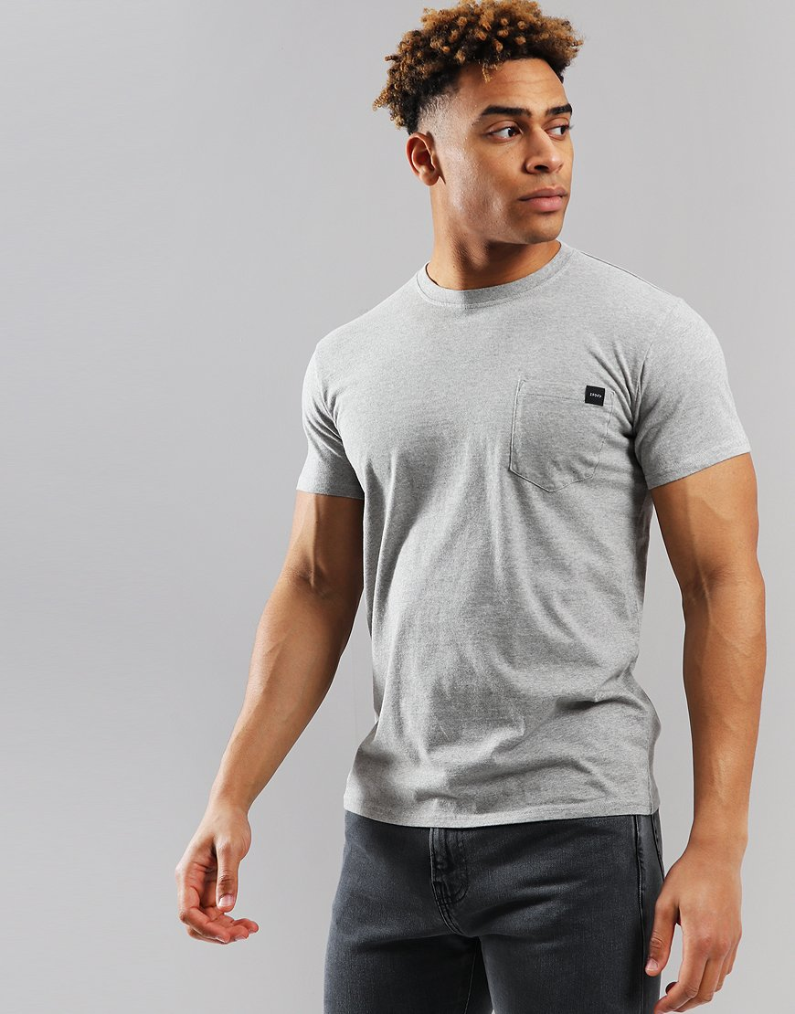 EDWIN Tab Pocket T-shirt Grey
