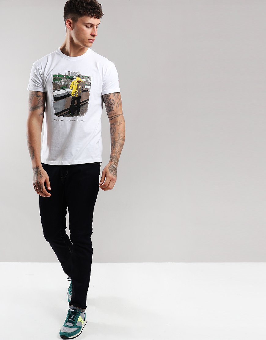 Eighties Casuals Deep South Bandit Country T-Shirt White