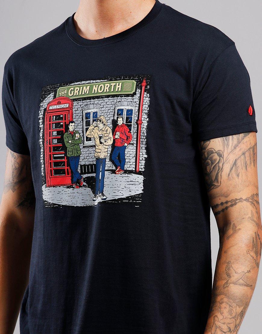 Eighties Casuals The Grim North T-Shirt Navy