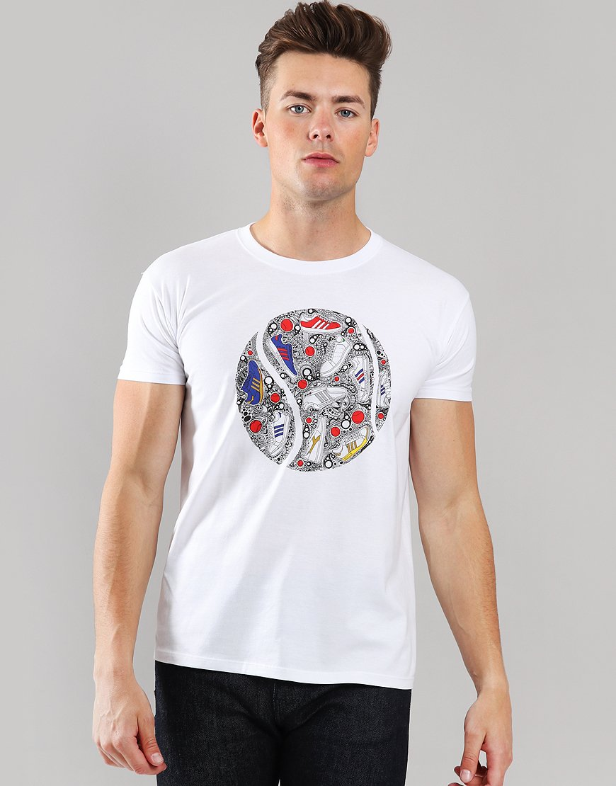 Eighties Casuals Palla Trainer T-Shirt White