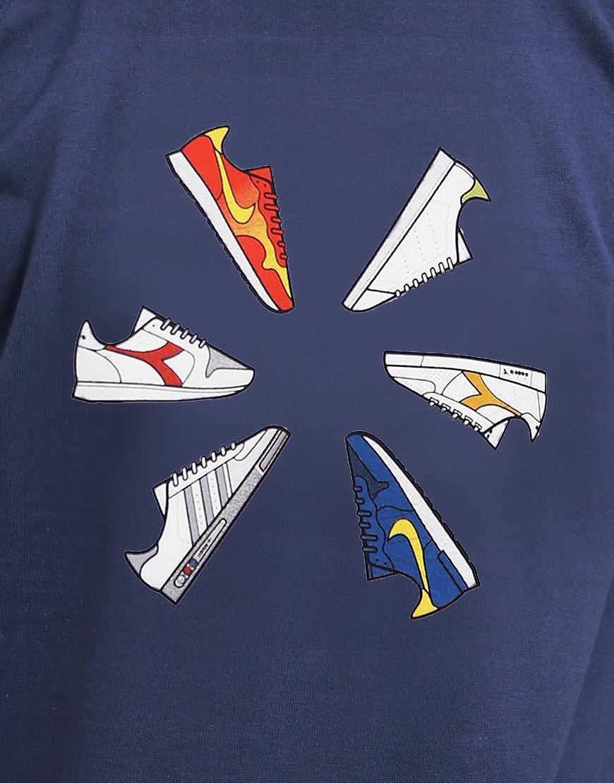 Eighties Casuals Trainer Wheel T-Shirt Slate