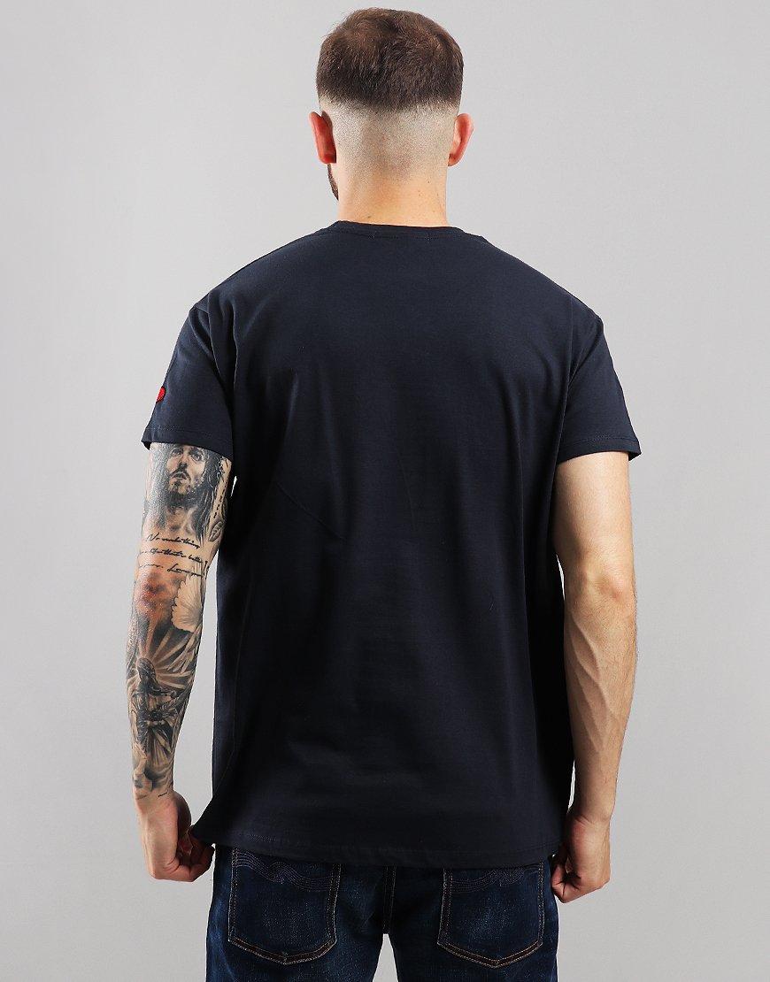 Eighties Casuals Stoke Station T-Shirt Navy