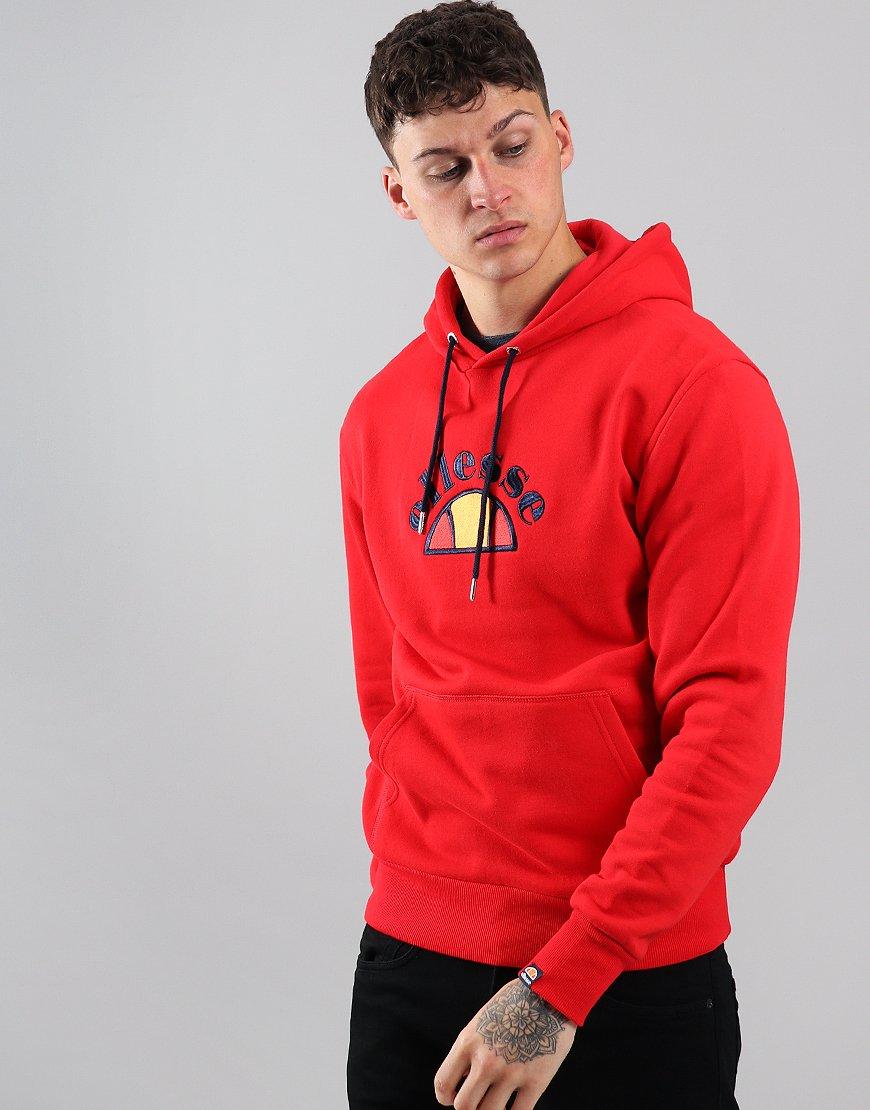 Ellesse Arc Logo Hoodie Red