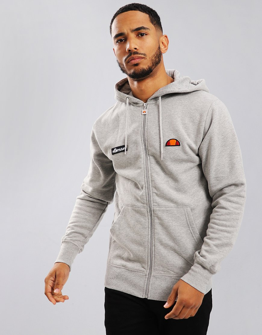 Ellesse Carlint Hooded Sweat Anthracite Grey Marl