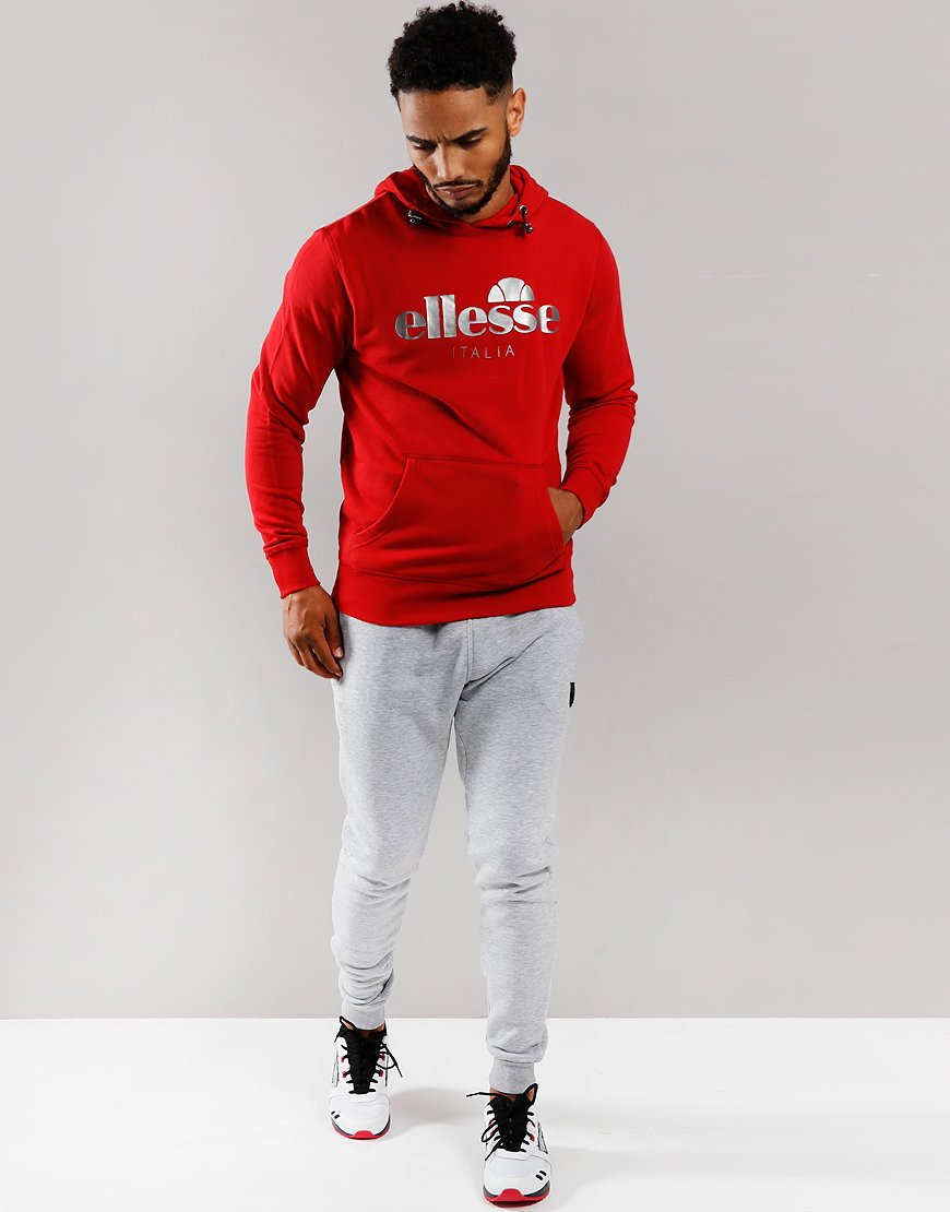 Ellesse Farina Hooded Sweat Red