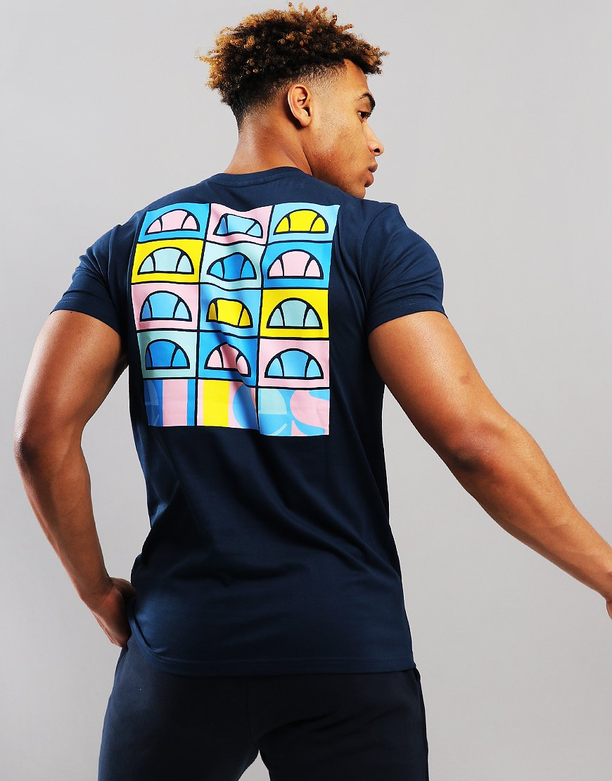8831422b14a0ff Ellesse Fondato Crew T-Shirt Navy