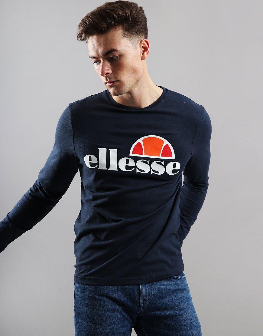 eac79ab1c5c6d6 Ellesse Grazie Long Sleeve T-Shirt Navy