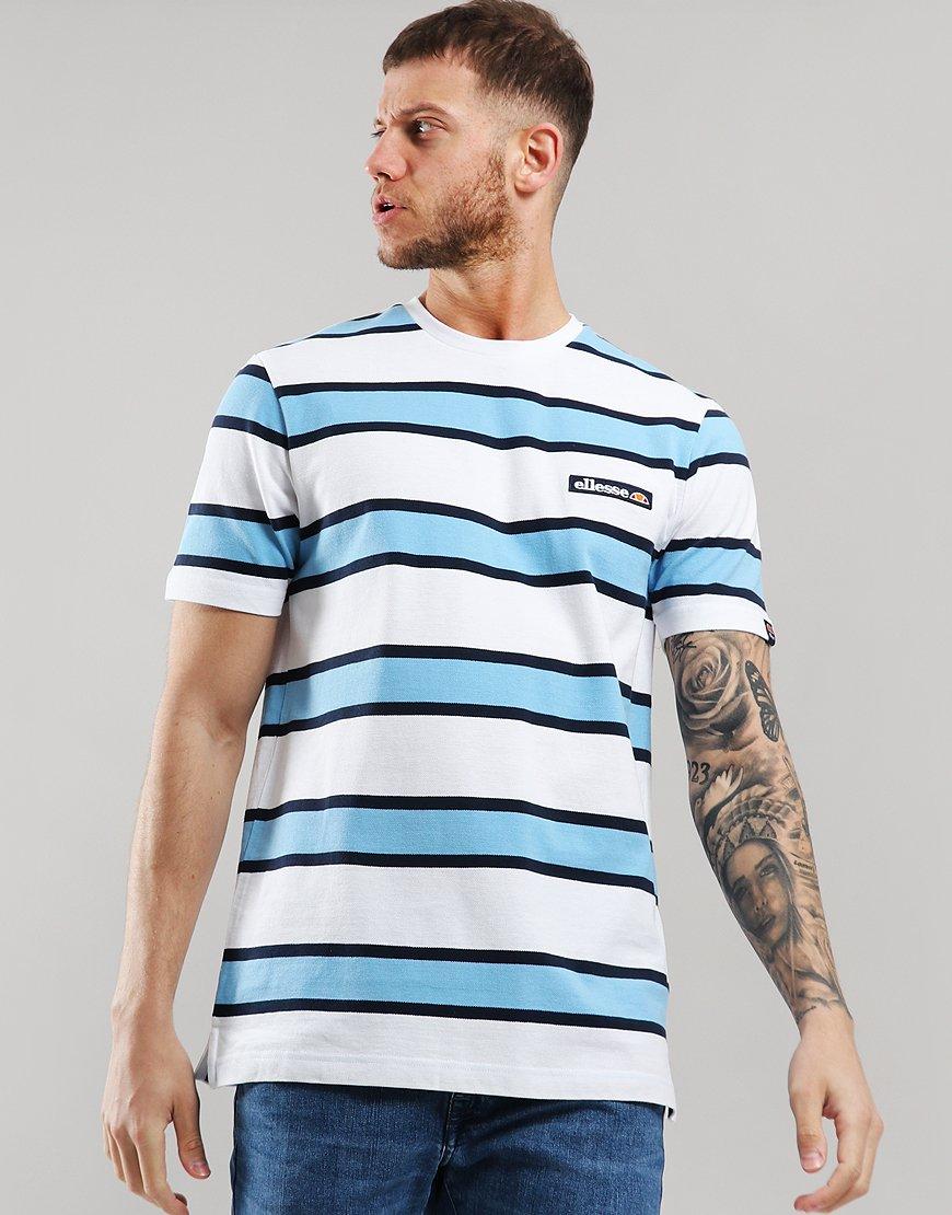 Ellesse Pluto Stripe T-Shirt White