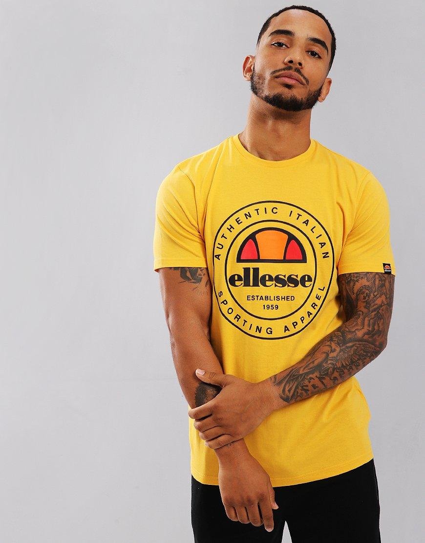 0fe22775aa0d89 Ellesse Vettorio T-Shirt Yellow