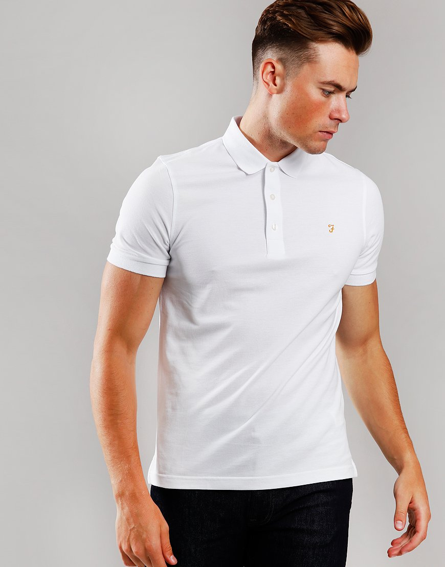 Farah Blanes Polo Shirt White