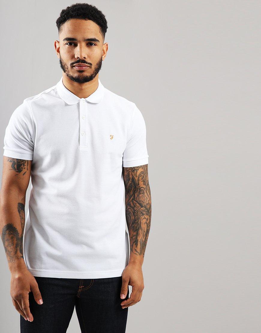 Farah Blaney Polo Shirt White