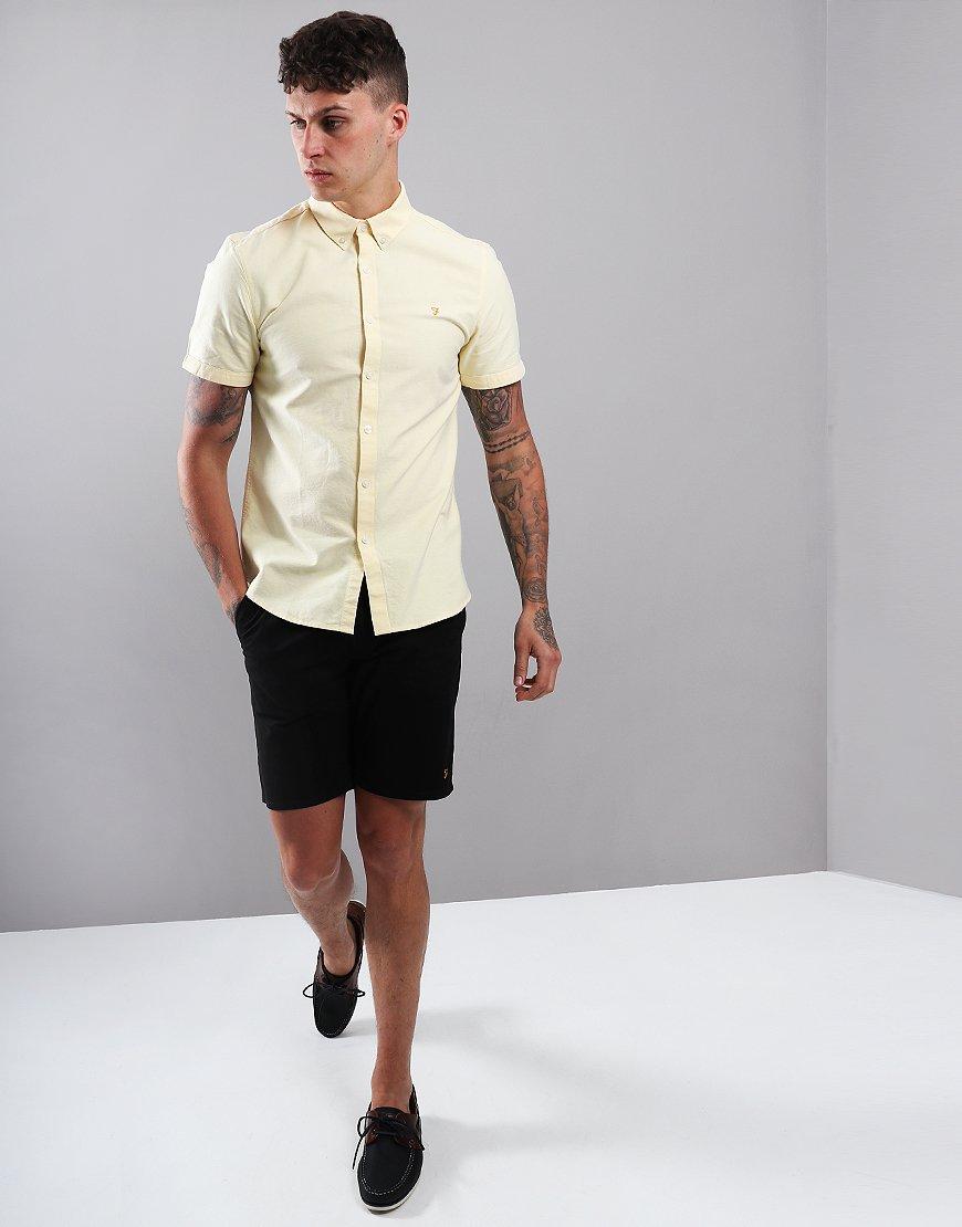 Farah Brewer Slim Fit Shirt Acid Yellow
