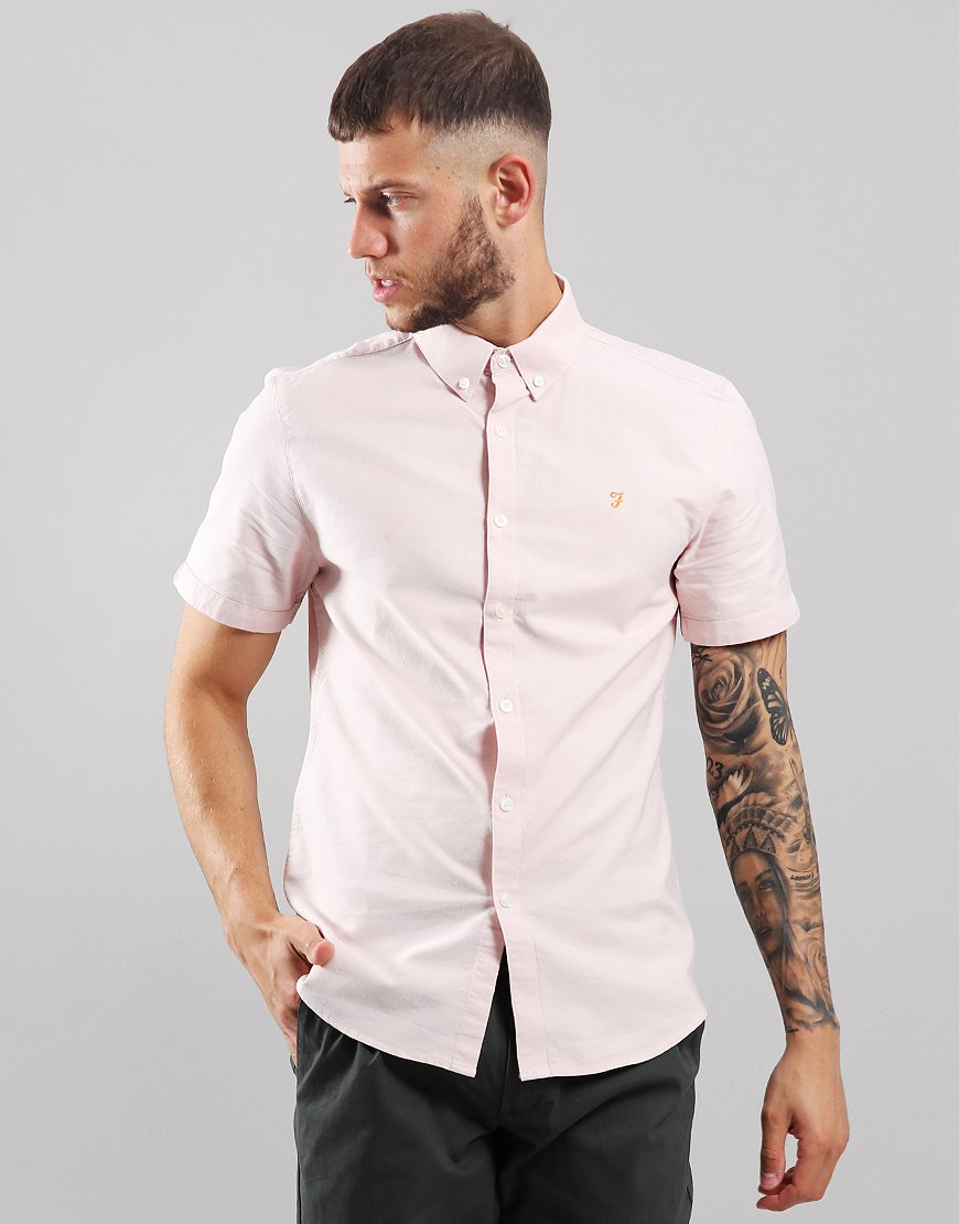 Farah Brewer Slim Fit Shirt Pink