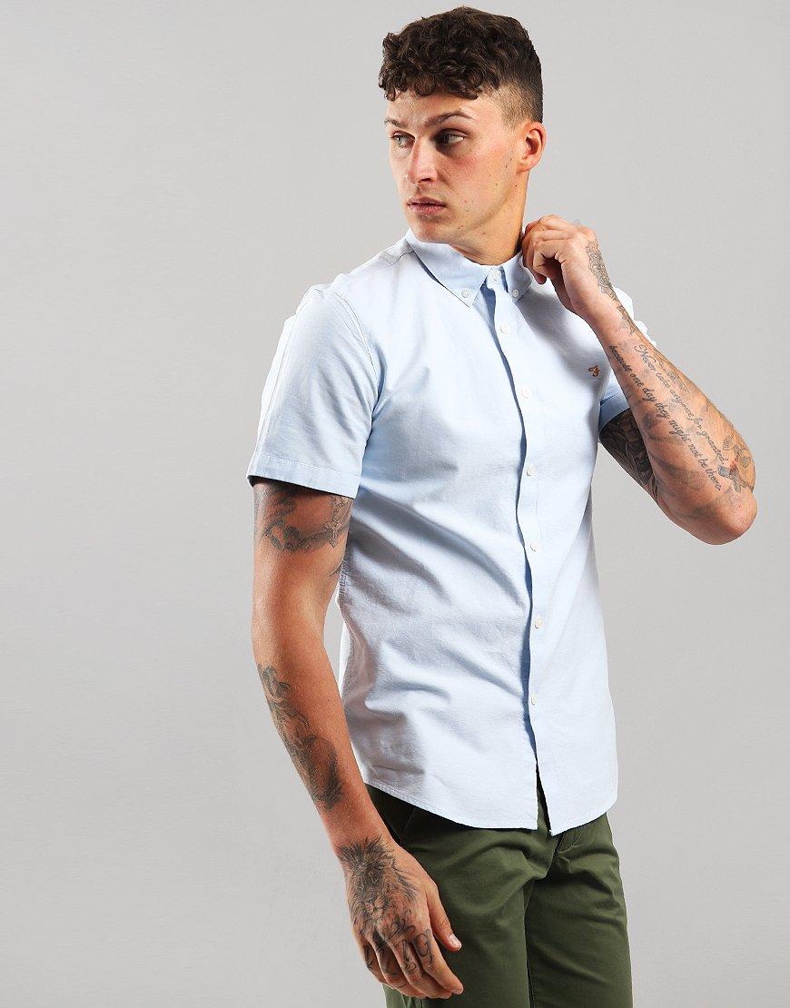 Farah Brewer Slim Fit Shirt Sky Blue